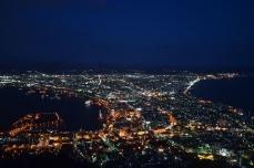 函館山からの夜景(18時20分)