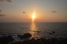 日本海の夕日①