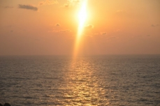 日本海の夕日②