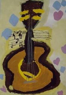ギター イタリアの児童作品