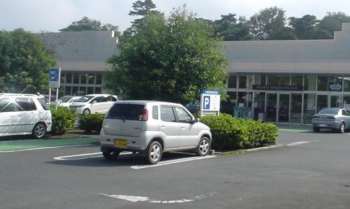 写真2 駐車場に樹木