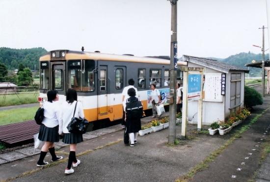 ⑥甲駅ホーム