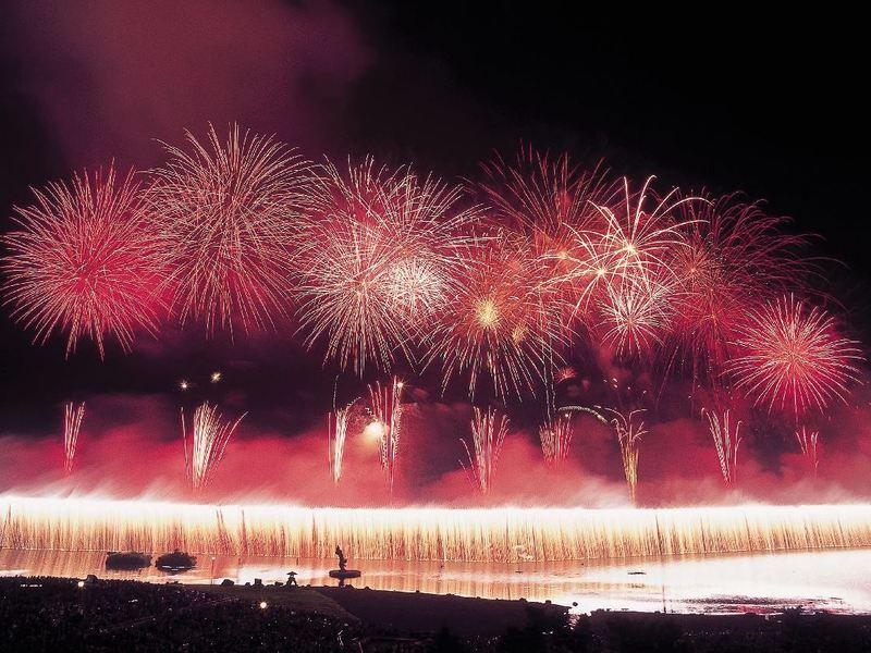 諏訪湖花火2