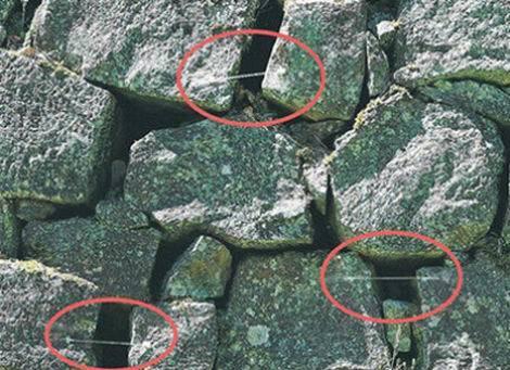 熊本城_石の動きを観察するためのガラス棒(470x343)
