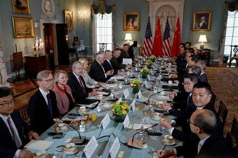 ワシントンで外交・安全保障対話に臨む米中担当者ら(470x313)