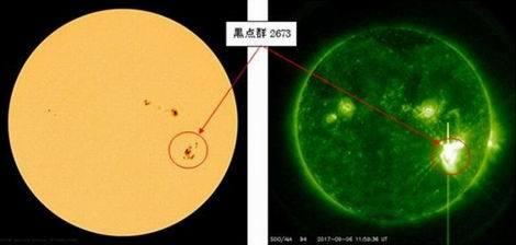 太陽黒点と太陽フレア(470x224)