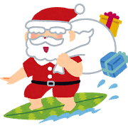 クリスマス、夏、南国、サンタ