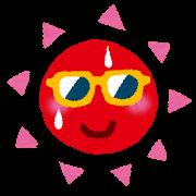 太陽、暑い、サングラス