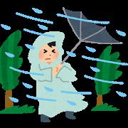 天気、防風雨