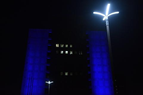 徳島県庁ライトアップ