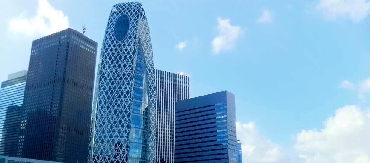新宿区の高層ビル群