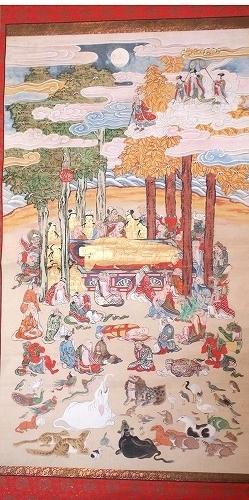 500子供坐禅会 法話 涅槃図  跋難陀龍王14