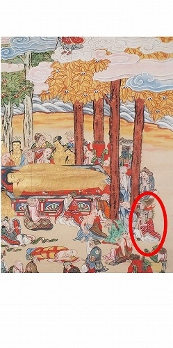 500子供坐禅会 法話 涅槃図  跋難陀龍王15