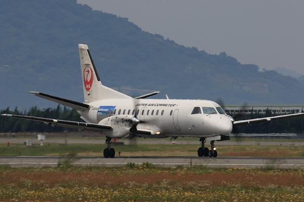 3X SAAB-340B JA8649 RJOM 170601 01