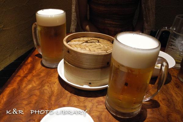 2016年8月18日角鹿3モルツ生ビール(中)&手作り小籠包