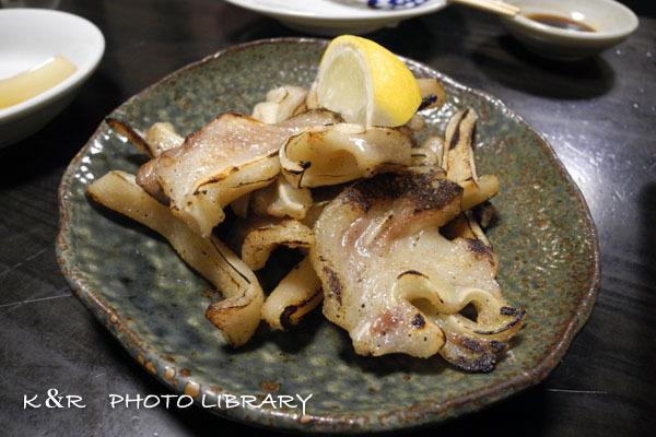2016年11月3日奄美大島・リッキ8豚耳焙りポン酢