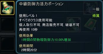 中級防御力活力ポーション