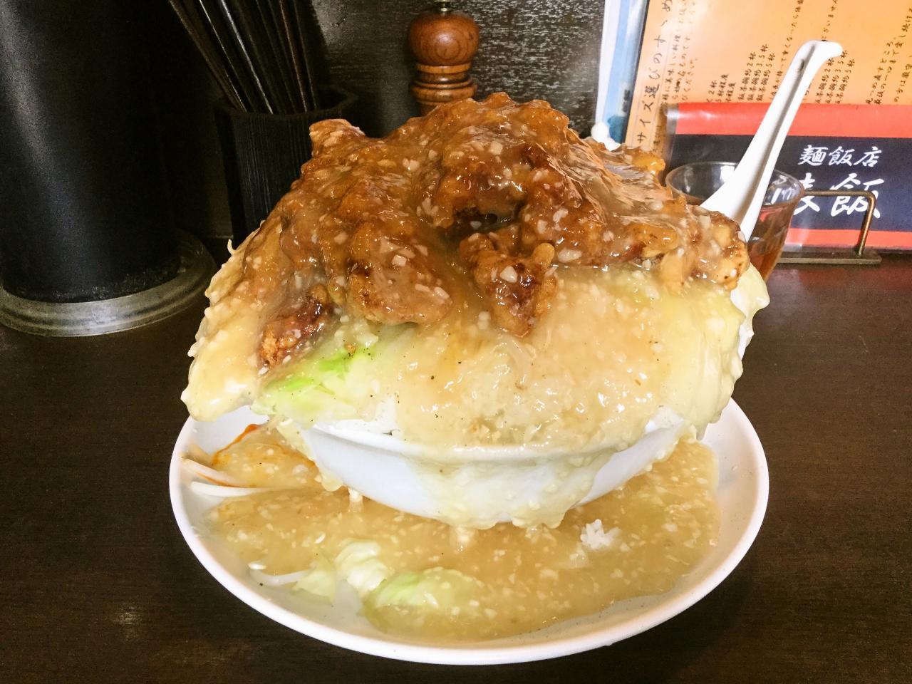 俵飯(鶏唐ニンニク塩ダレ飯)