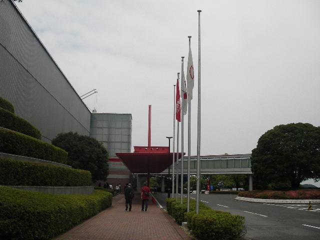 トヨタ博物館本館到着201706