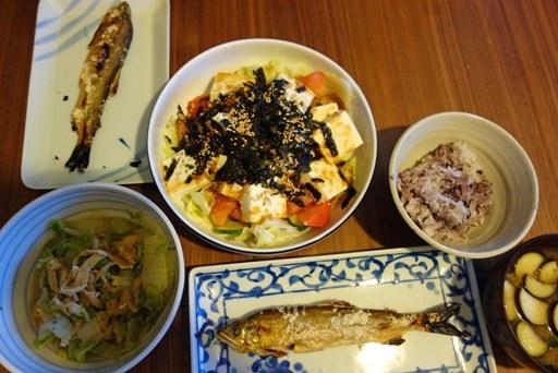 最近の食卓-鮎(岐阜県産養殖) DSC04258
