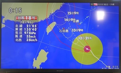 台風18号来襲-c P1130821