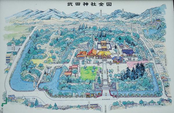 看板 武田神社全図