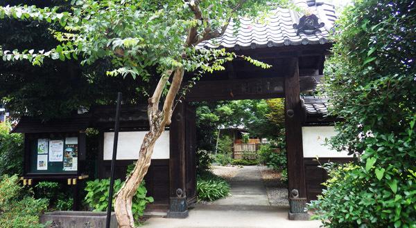 入り口、東運寺の山門