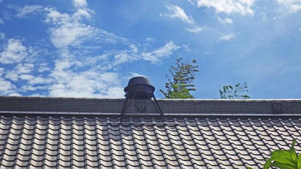 釜寺の屋根の釜
