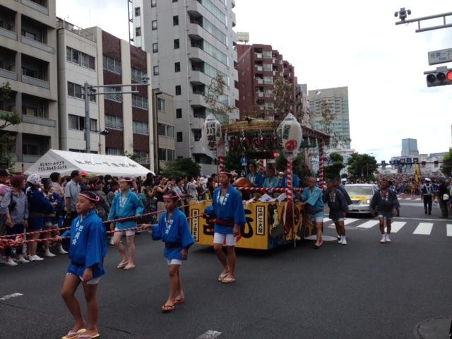 冨岡八幡宮の祭 準備