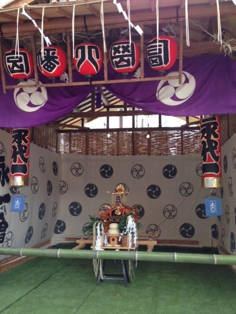 冨岡八幡宮の祭 神輿台