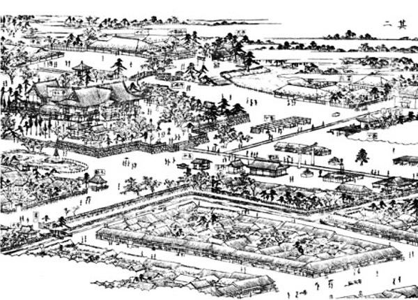 江戸名所図会の富岡八幡宮