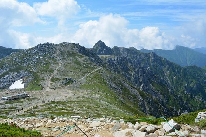 中岳を望む