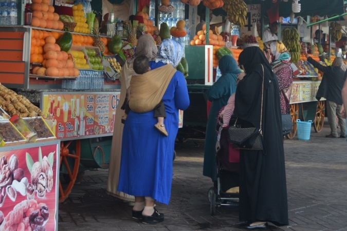 7市場の女性