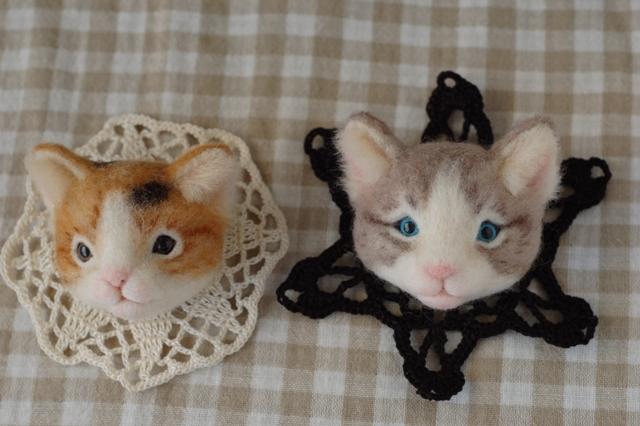 2017猫のお店ブローチー1