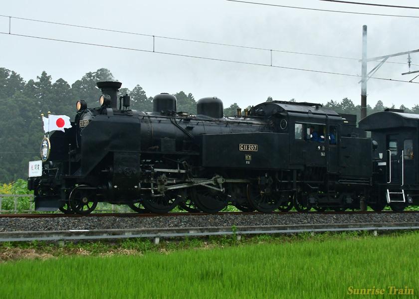 C11207 SL大樹 初の営業列車