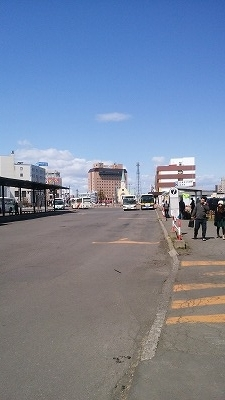 釧路駅前5月