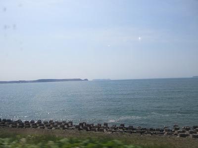 厚岸湾(車窓)