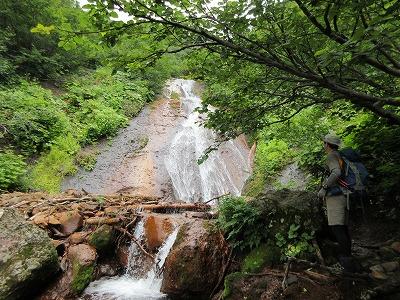 斜里岳8月旧道羽衣の滝