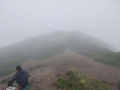 斜里岳8月頂上(旧観測所跡)
