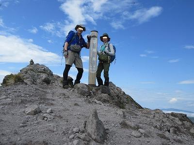 摩周岳山頂(9月)