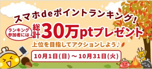 ちょびリッチ_スマホdeポイントランキング201710