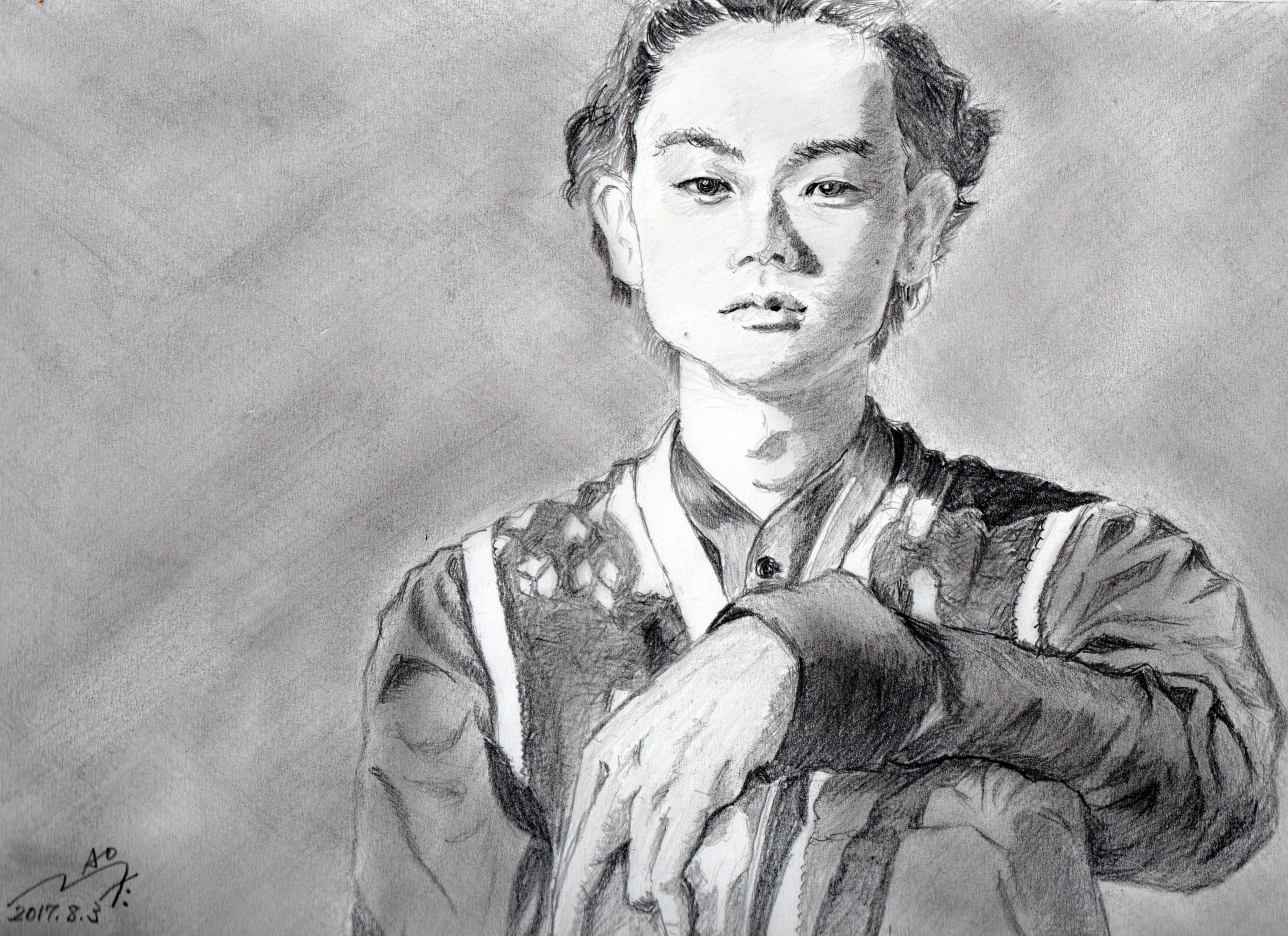 菅田将暉の鉛筆画似顔絵