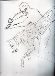 団時朗の鉛筆画似顔絵