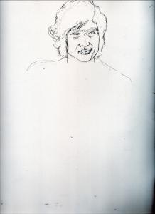 藤岡弘の鉛筆画似顔絵途中経過