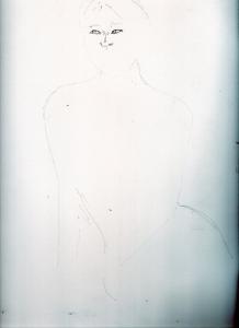 アグネス・ラムの鉛筆画似顔絵途中経過