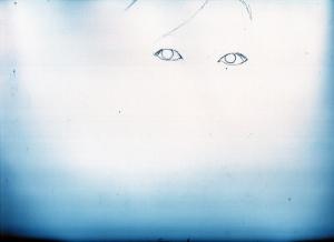 宇多田ヒカル鉛筆画似顔絵途中経過