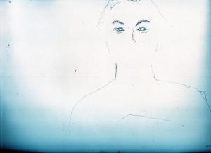 菅田将暉の鉛筆画似顔絵途中経過
