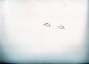加藤綾子の鉛筆画似顔絵途中経過