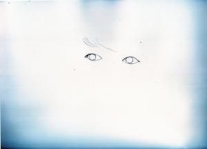 波留の鉛筆画似顔絵途中経過