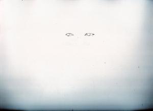綾野剛の鉛筆画似顔絵途中経過